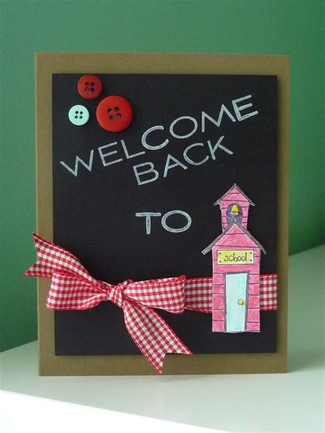 Handmade Welcome Cards - welcome back to school show and tell