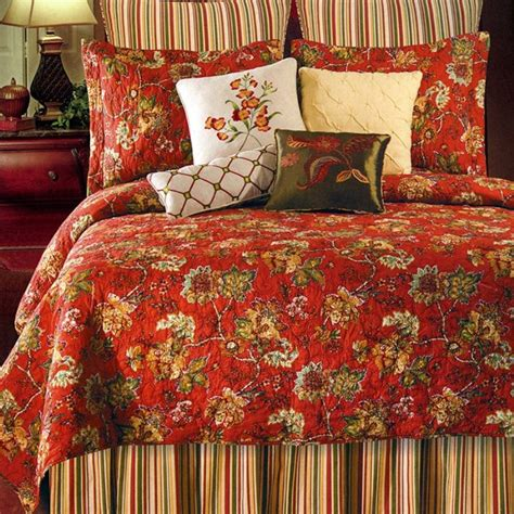 williamsburg comforter collection florentine red floral 7 piece value set by williamsburg
