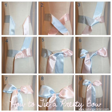 how to tie a ribbon 9 steps to tie the bow in a dress