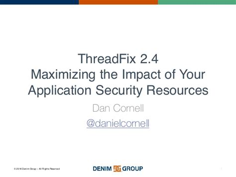 What Does Impact On A Application Threadfix 2 4 Maximizing The Impact Of Your Application
