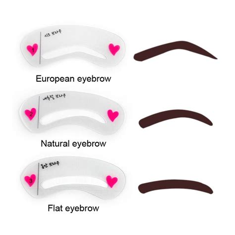 Eyeshadow Eyeliner Grooming Shaping Template Stencil Card by 19 Best Eyebrows Images On Eye Brows Eyebrow