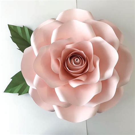 paper flower pattern pdf pdf new large rose paper flower template w rose bub center
