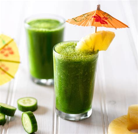 Pineapple Cucumber Detox Smoothie by Kale Cucumber And Pineapple Smoothie