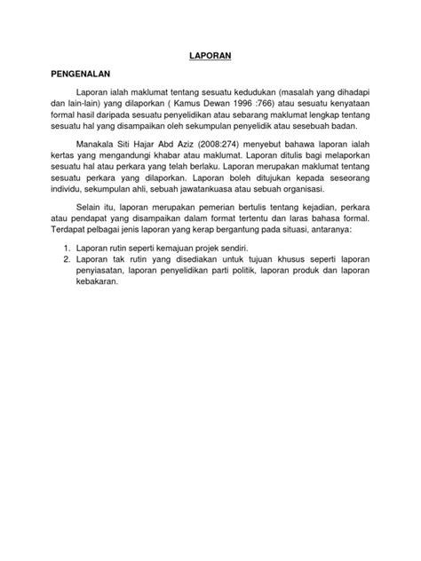 format laporan tahunan organisasi format laporan