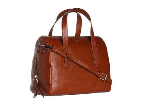 Tas Fossil Sudney Satchel Multi Brown fossil sydney satchel brown zappos free shipping both ways