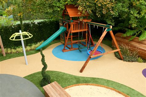 Home Daycare Ideas For Decorating by Children S Play Area Designed For Large Private Garden In