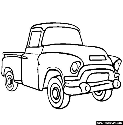 printable coloring sheets of cars and trucks pickup truck coloring page free pickup truck online