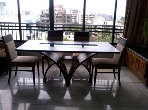 Modern Dining Table Designs India Modern Wooden Dining Table With Chairs In Mumbai Maharashtra India Vinod Kumar Bros
