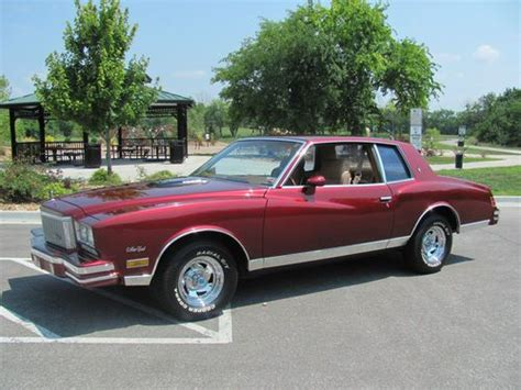 One Light Year In Miles Sell Used 1980 Monte Carlo Turbo In Lee S Summit Missouri