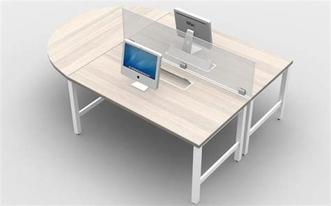 2 person workstation desk 2 person workstation desk with glass privacy screens