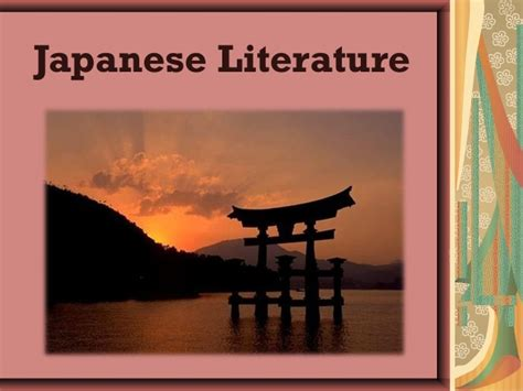 themes in japanese literature japanese literature