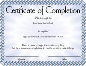 Class Completion Certificate Template by Certificate Of Completion Blue Templates Design Bild