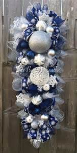 Xmas Door Decorating Ideas blue white christmas stunning blue christmas christmas swag