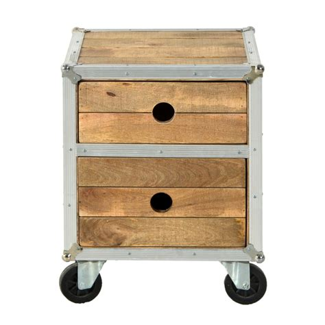 comodini on line comodino industrial legno di mango mobili industrial