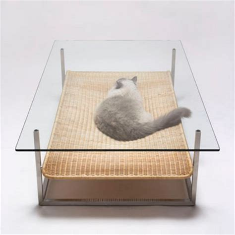 Cat Coffee Table Not Necessary Cat Hammock Coffee Table Geekologie