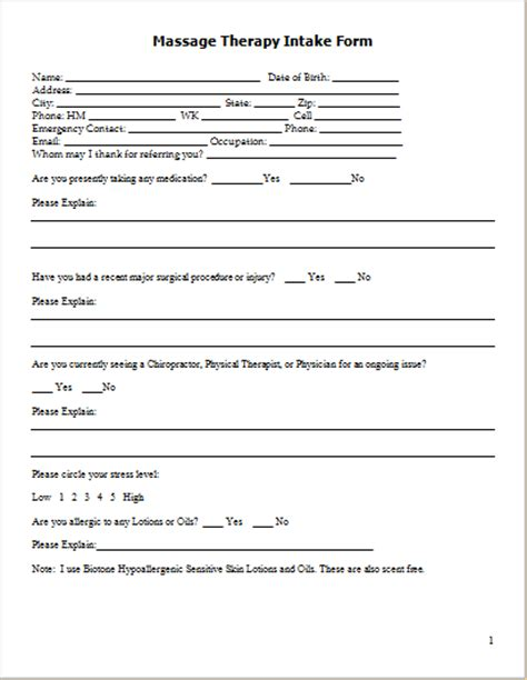 therapy intake form template 20 form logs sheets templates document hub