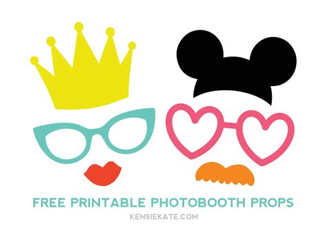 free printable photo booth props template more photobooth props kensie kate