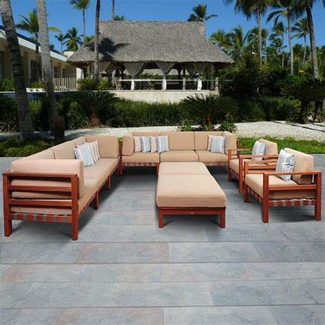 Patio Furniture Durie by Amazonia 10 Eucalyptus Patio Sectional Set With
