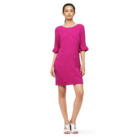 Dress Monaco club monaco melynda textured dress in pink peony lyst