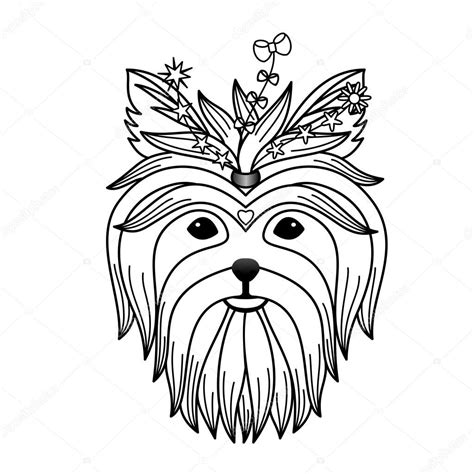 yorkshire terrier tattoo designs terrier stock vector 169 kronalux 87312912