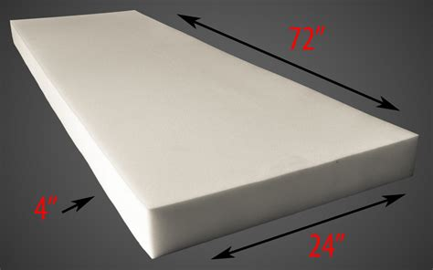 thick upholstery foam upholstery foam 4 thick 24 wide x 72 long