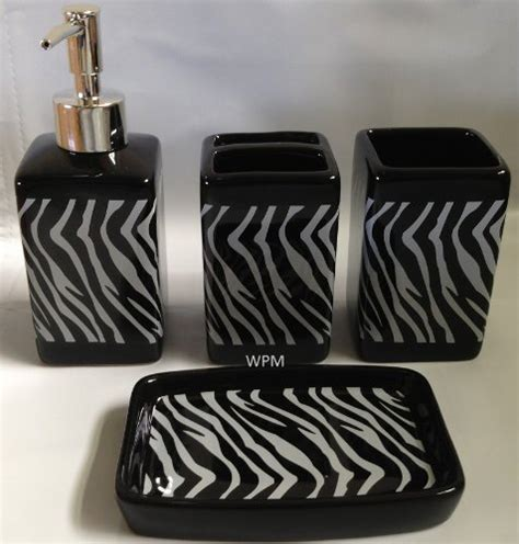 zebra print bathroom accessories zebra print bathroom accessories sets everyone loves