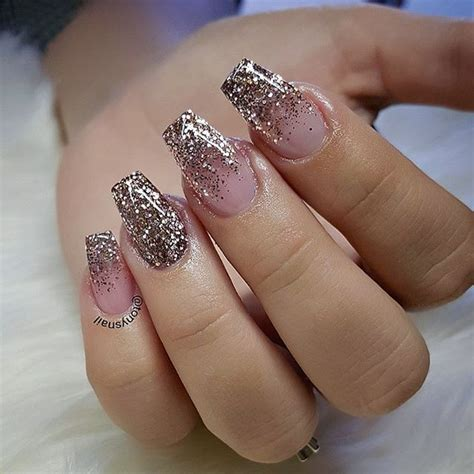 Glitter Nails by Gold Nails For Prom Www Pixshark Images Galleries
