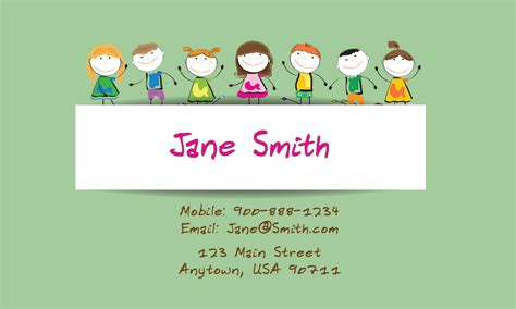 buisness cards aand templates for child care babysitting and day care business cards babyshower designs