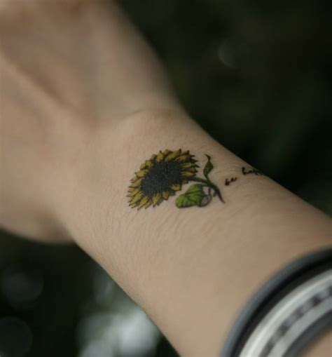 sunflower wrist tattoo 32 fantastic flowers tattoos on wrists