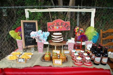 carnival themes for baby showers vintage carnival baby shower party ideas photo 9 of 28