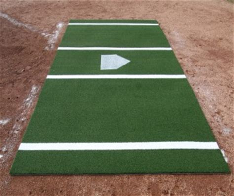 Home Plate Batting Center by Planetbaseball 12 X 6 Green Batting Mat Pro Lined