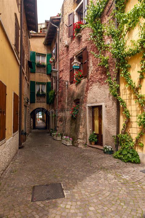 typical italian courtyard italy stock photo image