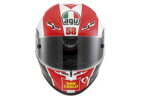 Helm Agv Simoncelli 187 gp tech marco simoncelli tribute helmet 1 at cpu all pictures and news about