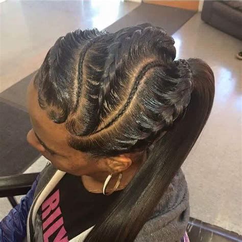 human hair ponytail with goddess braid 17 best ideas about black hairstyles updo on pinterest black hairstyles black ponytail