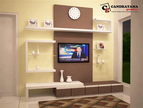Rak Tv Di Kediri desain backdrop tv perumahan kediri family residence interior candratama kediri