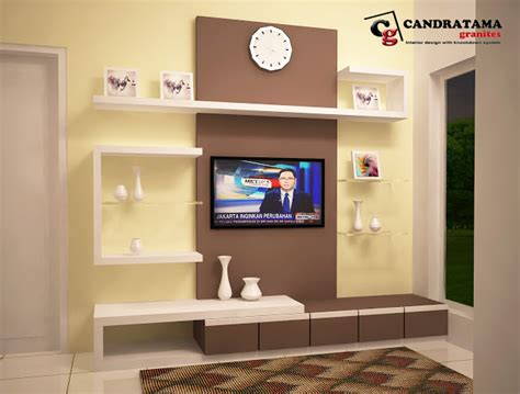Rak Tv Di Kediri desain backdrop tv perumahan kediri family residence