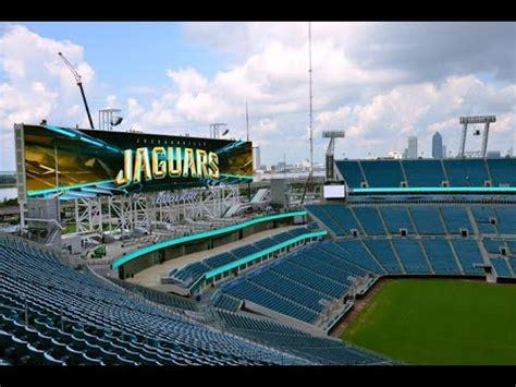 jacksonville jaguars stadium renovation jacksonville jaguars new scoreboards are world s largest