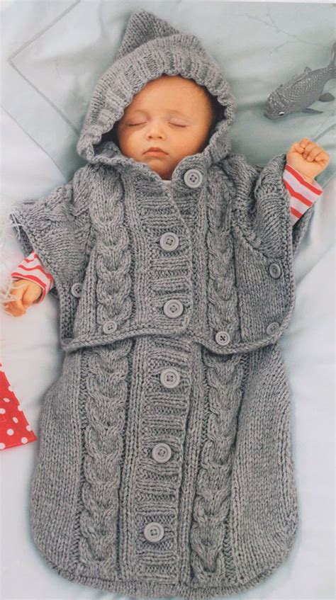 Baby Knitted Sleeping Bag details about clever chunky baby sleeping bag converts
