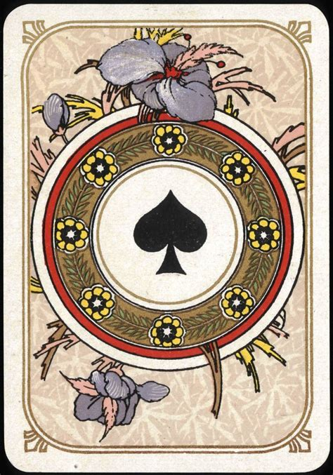 printable playing cards spades entertainment playing card ace of spades art nouveau
