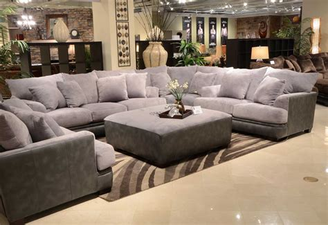 how to set a living room jackson barkley sectional sofa set grey jf 4442 sect set grey at homelement