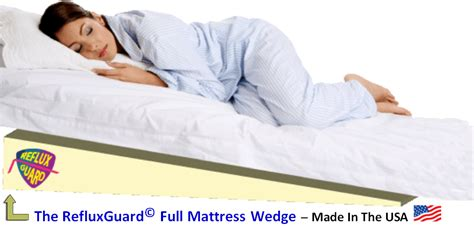bed wedge pillow for acid reflux acid reflux guard mattress bedding wedge