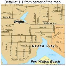 fort walton florida map 1224475