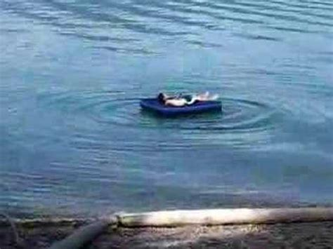 floating in an air mattress in c harrisen