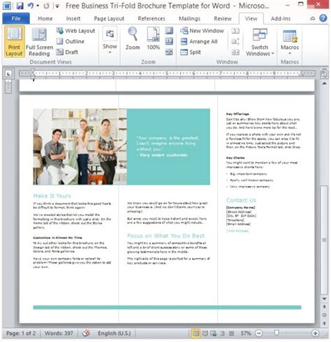powerpoint templates for brochures free business tri fold brochure template for word