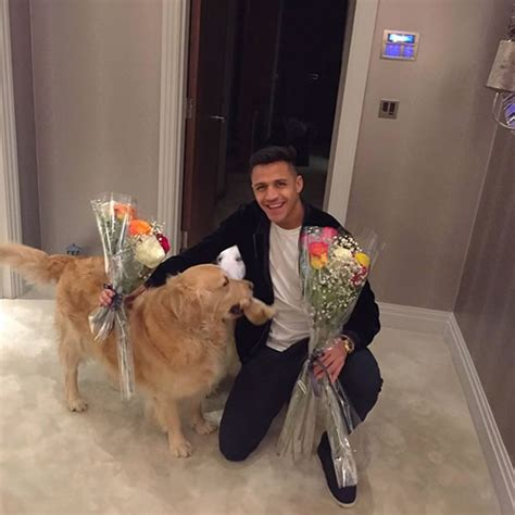 alexis sanchez dogs instagram photo find out what was greeting alexis sanchez at home