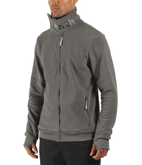 bench funnel neck fleece bench core funnel neck fleece in gray for men lyst