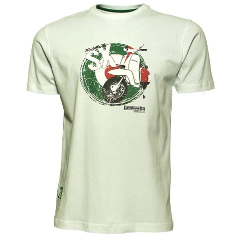 T Shirt Scooter lambretta sx scooter print t shirt in white jon barrie