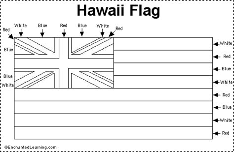 hawaii flag printout enchantedlearning com