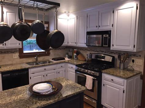 Gray Cloud cabinets & Sherwin Williams Caviar island   2