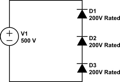 diodes and resistors in series do serially connected diodes equal voltage electrical engineering stack exchange